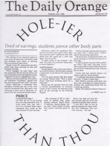 Hole-ier Than Thou